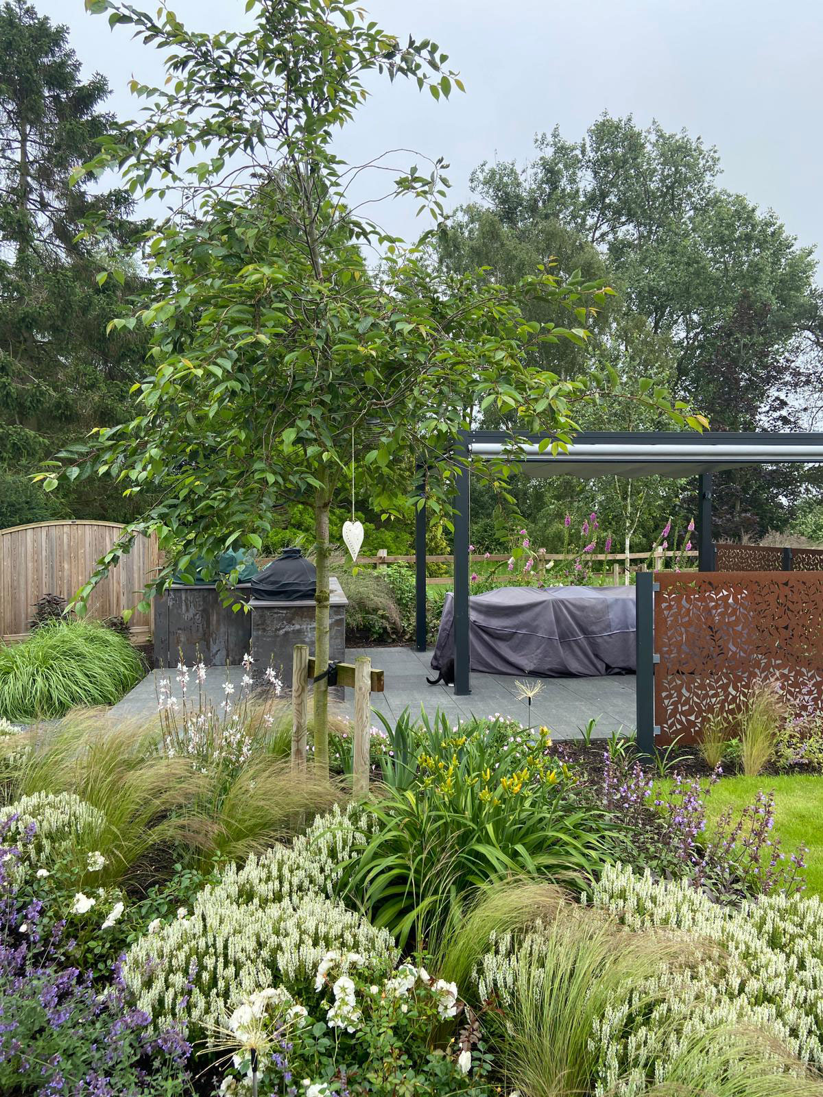 beautiful garden with well designed planting plan