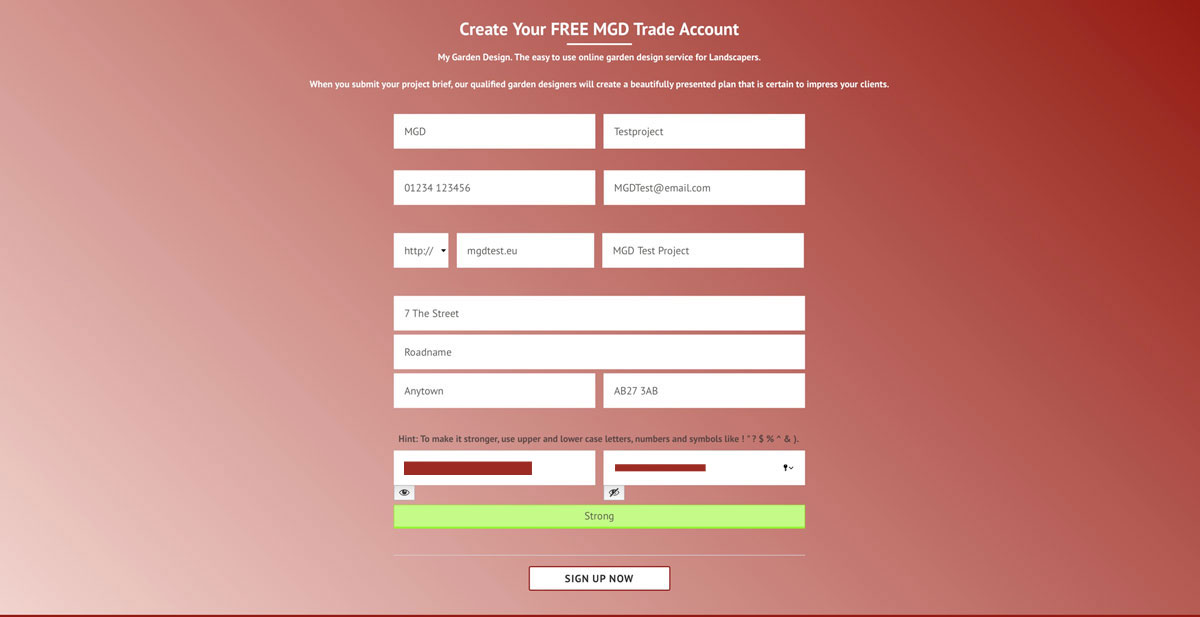 how to create a trade account with MGD