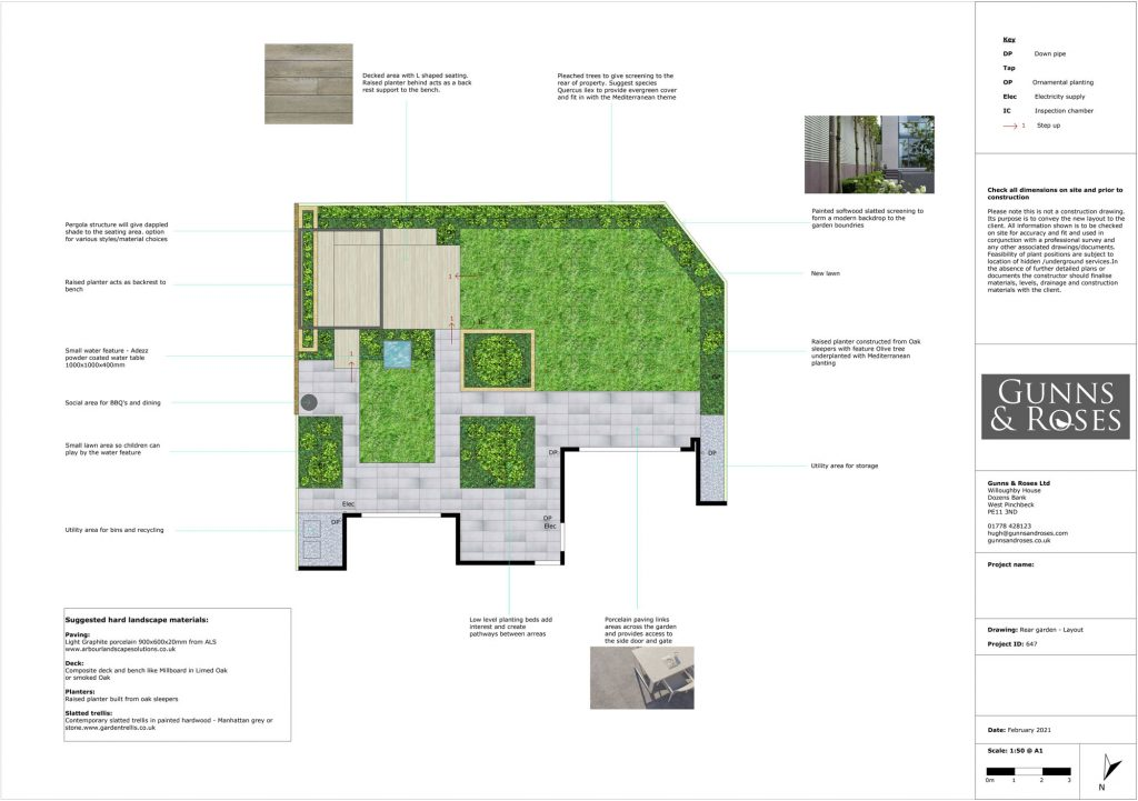 garden design for Gunns and roses